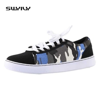 Fashion Pattern Men S Casual Shoes Lace Up New Design Flat England Style Three Colors High