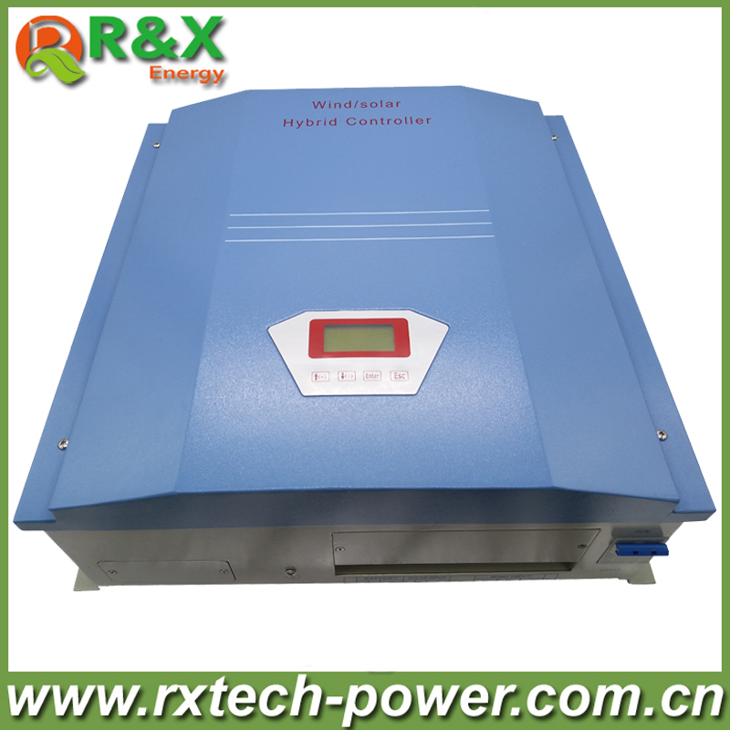 1kw wind solar hybrid controller 24V/48V for 1000w wind turbine and 300w solar panel with unloading resistor, CE approval free shipping 600w wind grid tie inverter with lcd data for 12v 24v ac wind turbine 90 260vac no need controller and battery
