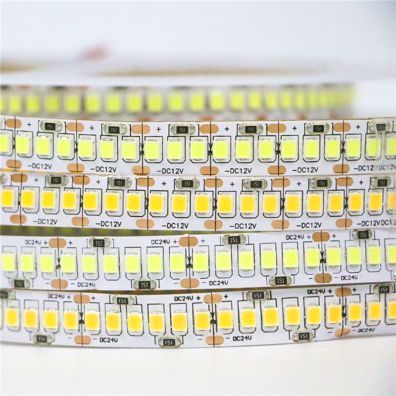 DC 12V/24V 10mm Double PCB 2835 SMD 1200 LED Strip ip20 Non waterproof SMD 3528 Flexible Tape Light 240Leds/m , White Warm White платье yumi yumi yu001ewlef28