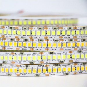 DC 12V/24V 10mm Double PCB 2835 SMD 1200 LED Strip ip20 Non waterproof SMD 3528 Flexible Tape Light 240Leds/m , White Warm White