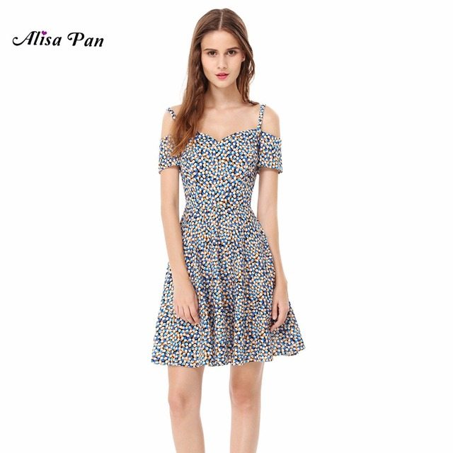 c0bcfc4211 Casual Dress Alisa Pan Sapphire Blue AS05557SB A Line New Fashion Women  Simple Off-the-shoulder Short Sleeve Casual Dress