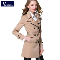 2017 New Hot Spring Autumn Overcoats Women S Trench Coats Long Sleeve Fashion Turn Down