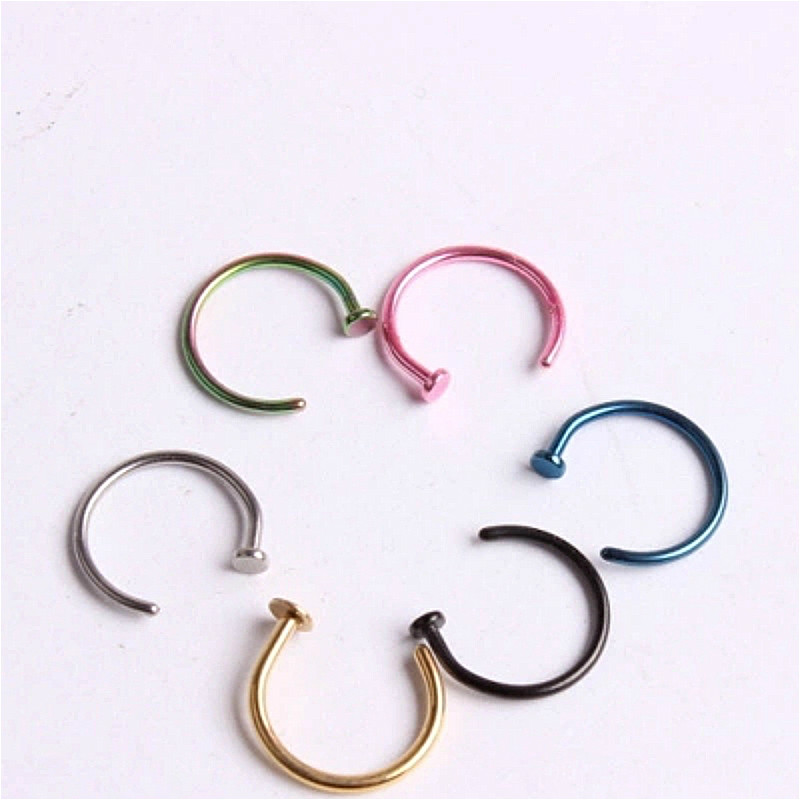 Jewelry Lip-Ring C-Clip Lip Piercing Fake Hoop Beautiful Women No Burun