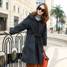 Zipper hooded solid color autumn button pocket fashion jacke(China)