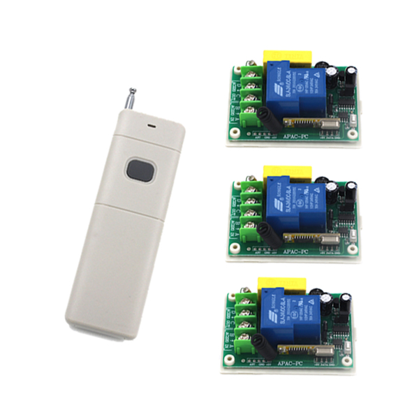 AC 220V High Power 30A 3000W Big Load Remote Control Switch + 1-Key 1000M High Power Transmitter Need 9V Battery SKU: 5325 ac220v 30a 1000m 1 channel wireless remote control switch 3000w high power relay 15 receiver for water pump sku 5512