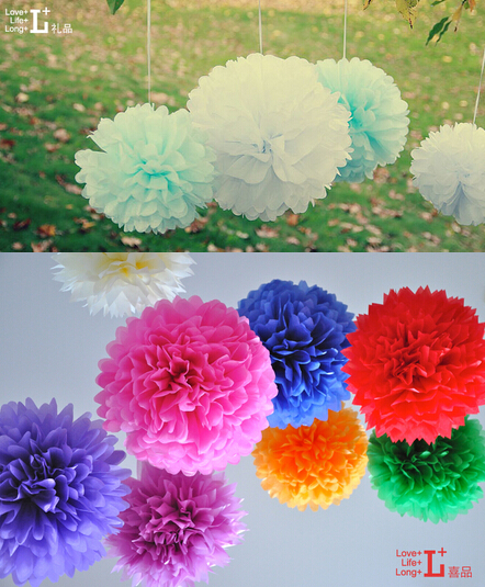 200PCS 14 35cm Weddings Birthday Party Holiday Home Decoration Tissue Paper Pom Poms Paper Flower Baby Shower Diy Flowers Ball