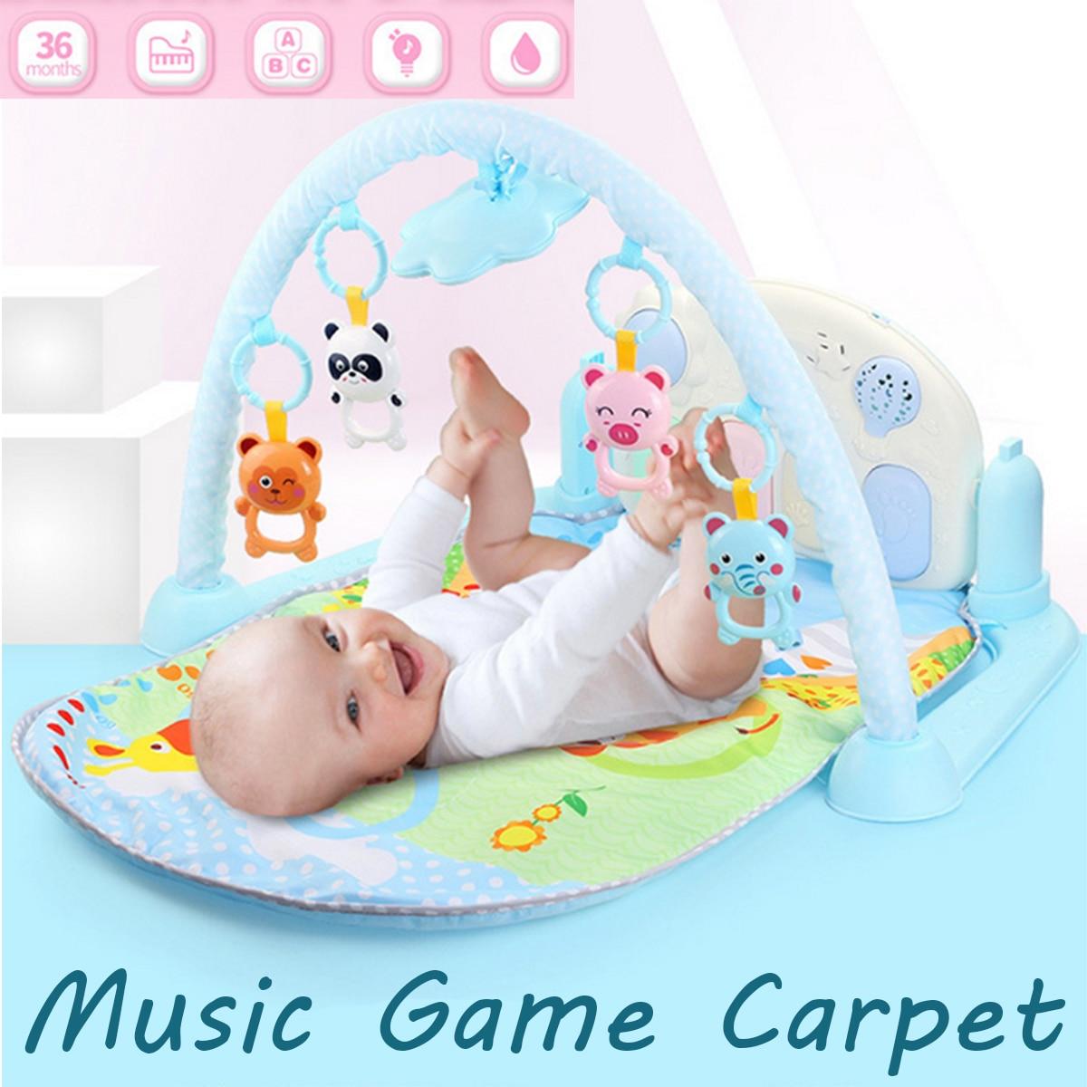 80x52x45 cm bébé enfants jouer tapis Projection Fitness Piano bébé musique pied musique jeu tapis activité sommeil Pad jouets éducatifs