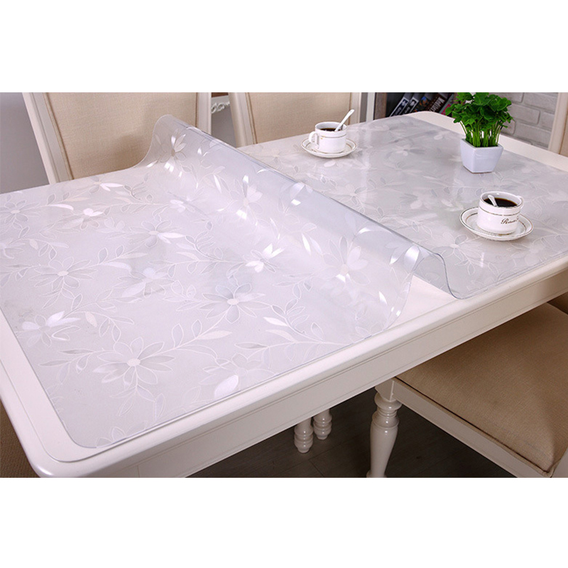1PC PVC Waterproof Tablecloth Home Textile Kitchen Table Cover Oil cloth Soft Glass Tablecloth Thickness 1mm in Tablecloths from Home Garden