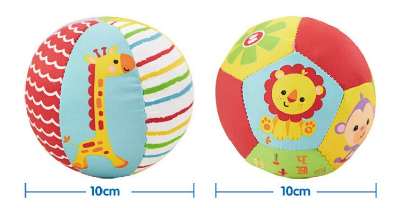 Soft Stuffed Toy Balls Baby Ball Toys Baby Rattles Infant Babies Body Building Animal Ball For 0-12 Months Hot Sale