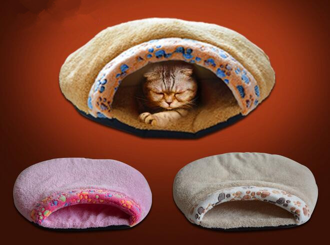 anti slide - extra soft footprints cat sleeping mat , doggie cage, pet beds ...