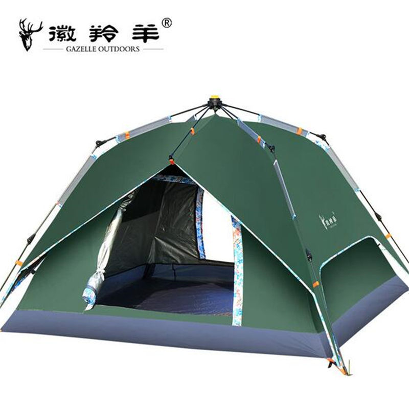 GAZELLE OUTDOORS Hike Travel Play Tent Thickened Silver Spinning Rotary Automatic Account Camping Outdoor Supplies dz029 gazelle outdoors зелёный цвет