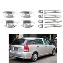 Для Toyota Wish 2003 2006 2009 ABS дверная ручка чаши хромированные аксессуары наклейки для стайлинга автомобилей