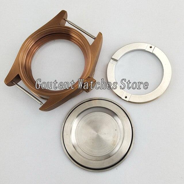 Boîtier de montre Corgeut 41mm pour miborough 8215, ETA 2836, Mingzhu DG2813/3804 p813