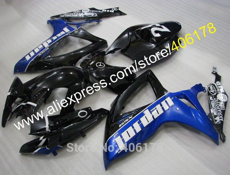 Hot Sales,For SUZUKI GSXR 600 750 2006 2007 Jordan GSXR600 GSXR750 GSX R600 R750 K6 06 07 Motorcycle Fairing (Injection molding) new motorcycle ram air intake tube duct for suzuki gsxr600 gsxr750 2006 2007 k6 abs plastic black