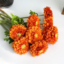Klonca Natural Beautiful Silk Flower 56cm 3pcs/lot Artificial Fake Zinnia for Home Party Decoration