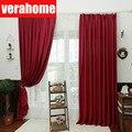 Плотные термо затемняющие красные шторы для гостиной  спальни  люверсы  занавески для обработки окон  на заказ  панель  домашний декор