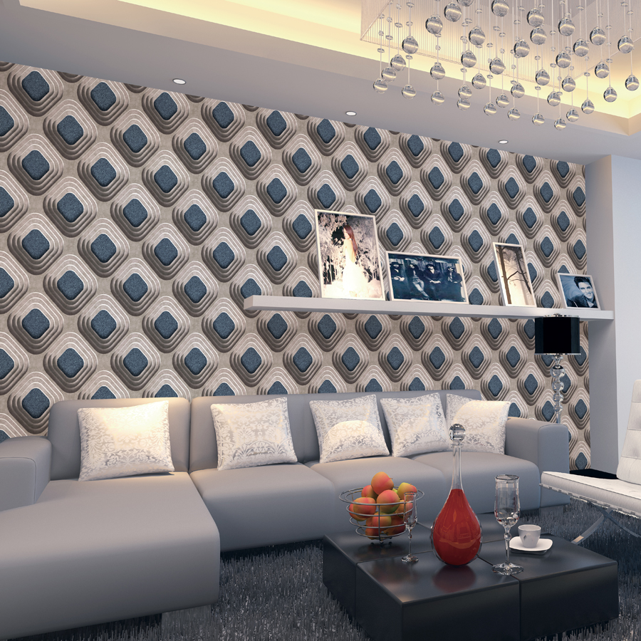 Online buy wholesale fashion wall paper from china fashion for Luxury 3d wallpaper