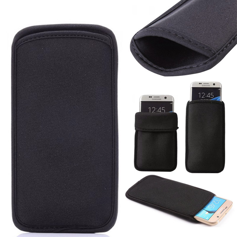 Black Elastic Soft Flexible Neoprene Protective Pouch Bag For Leagoo T8 S10 S11 X Rover C Protect Sleeves Pouch Case