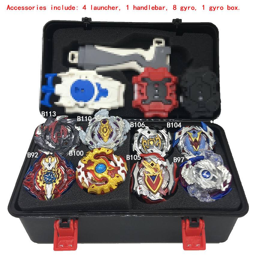 New Beyblade burst Toupie Beyblades Metal Fusion Black Beyblades Set Box  bey blade Launcher Beyblade Toys For Childn Bayblade