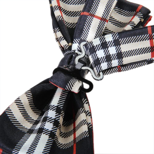 Hot M black plaid bow tie ...