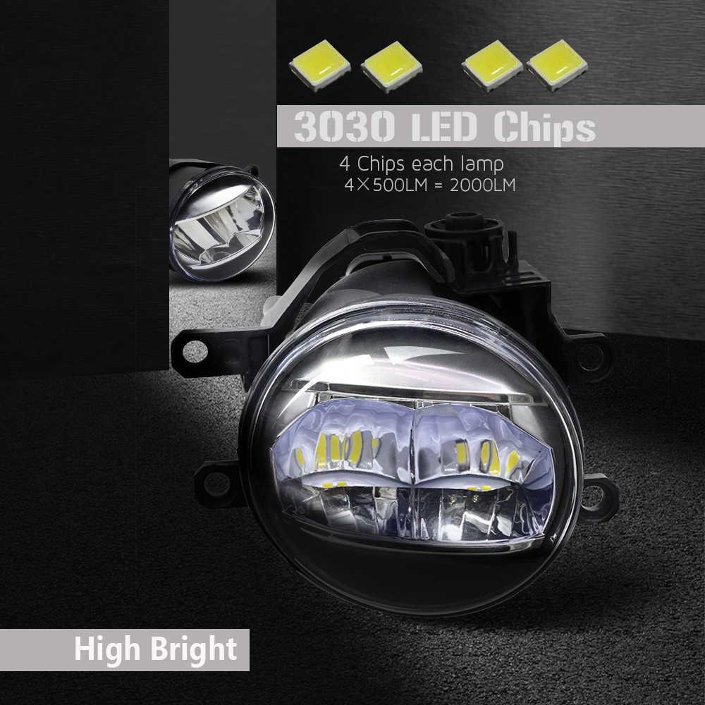 Buildreamen2 For Toyota Verso 2009-2018 Car Right + Left Fog Light 4000LM H11 LED Lamp Daytime Running Light 12V Accessories