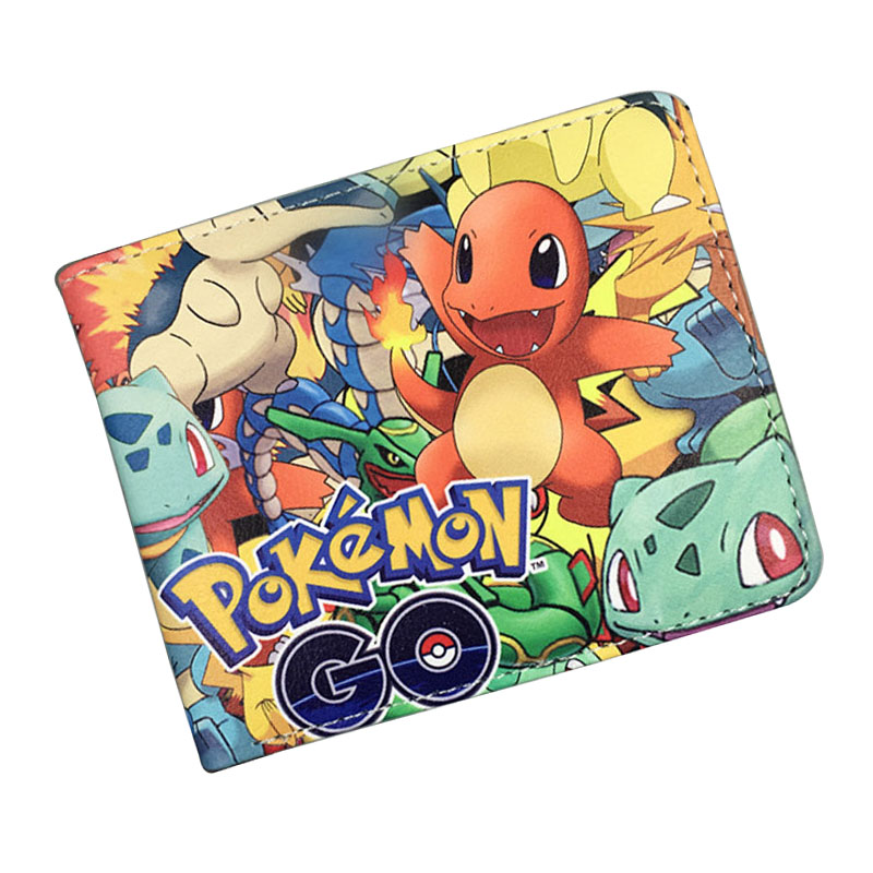 Lovely Pocket Monster Wallets Pokemon Go Print Purse portefeuille femme carteira Dollar Price Money Bags Cartoon Short Wallet