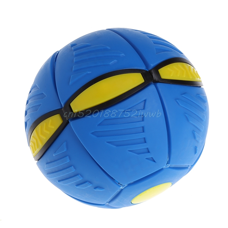 14cm Flying UFO Flat Throw Disc Ball Toy Kids Outdoor Fancy Catch Ball Toys