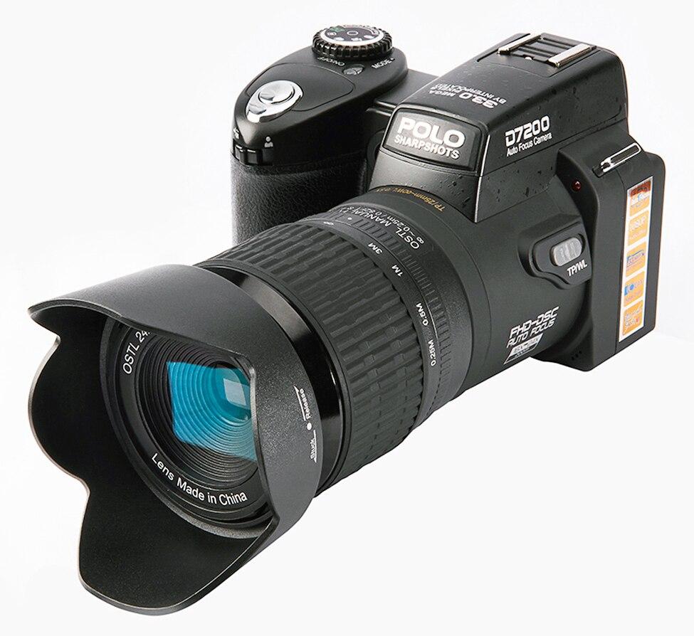 D7200 цифровых камер 13MP цифровых зеркальных камер 24x телеобъективы Объектив & 8X цифровой зум Широкий формат объектив СВЕТОДИОДНЫЙ spotlight