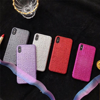 Metallic Color 3D Matte Soft Silicone Mobile Phone Case For IPhone X 8 8Plus Business Men