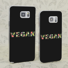 VEGAN vegetable lettering phone cover for Samsung Galaxy S 3 4 5 6 7 Mini Edge Plus Note 3 4 5 7