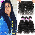 Brazilian Deep Wave Virgin Hair 3 Bundles Brazilian Curly Virgin Hair Wet And Wavy Virgin Brazilian Hair Cheap Human Hair Weave