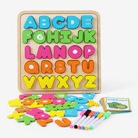 Wooden Alphabet Sensory Montessori Toys Materials Montessori Letters Toddlers Puzzles Educatioanl Toy For Children Word Spelling