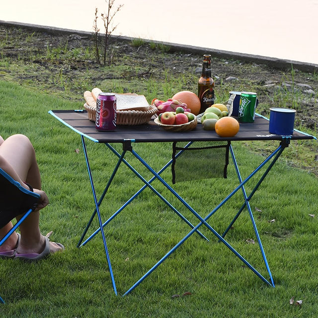 Mesa plegable portátil para pícnic, mesa de comedor al aire libre, ultraligera, alta Tabla de calificación, escritorio, mesa de Camping de aleación de aluminio 7075, color negro