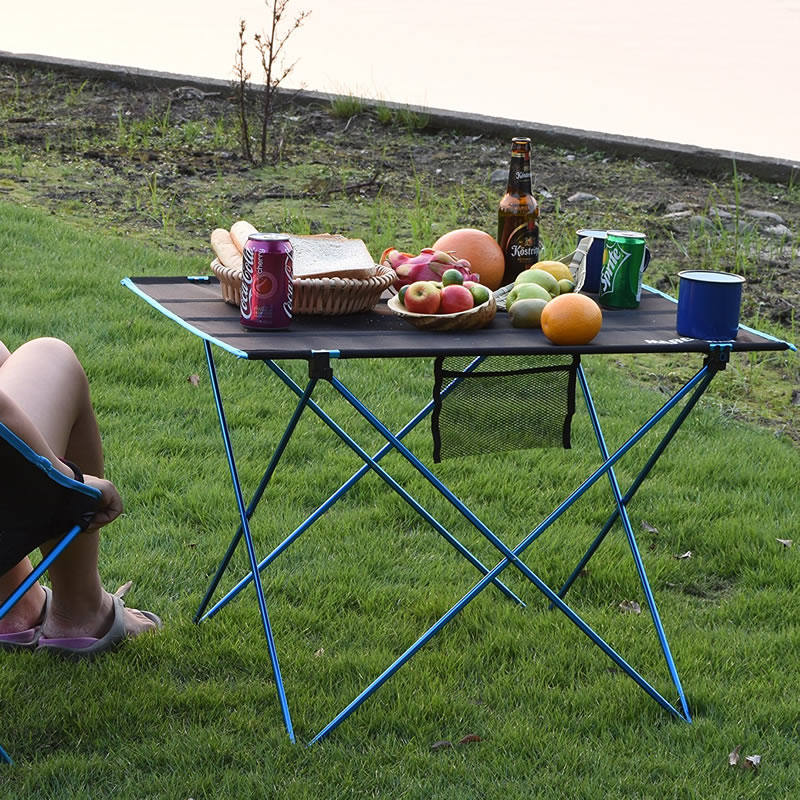 Portable Folding Table Picnic Outdoor Dining Table Ultralight Black High Grade Table Desk 7075 Aluminium Alloy Camping Table