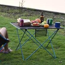 Przenośny składany stół piknikowy stół zewnętrzny Ultralight czarny wysokiej jakości stół biurkowy 7075 stół kempingowy ze stopu Aluminium