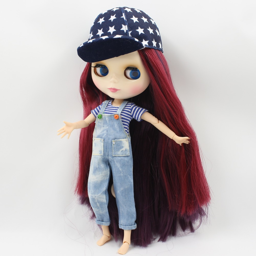 icy factory blyth doll bjd neo deep red mix purple hair with bangs/fringes big breast joint body 1/6 30cm toy gift 135/2436 free shipping factory blyth doll icy orange hair with bangs fringes joint body 230bl0145 bjd neo 1 6 30cm