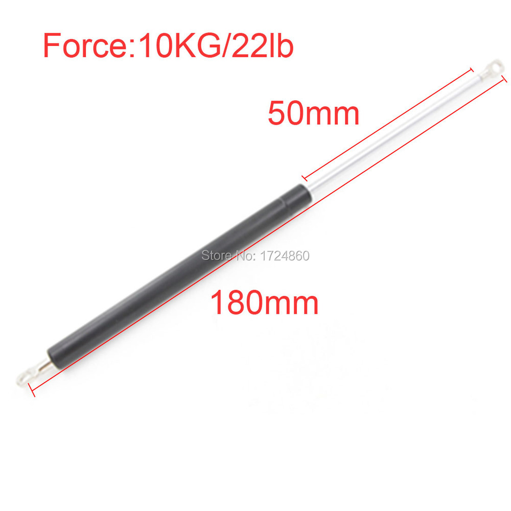 High Quality 50mm Stroke 10kg 22 lb Force Lift Strut Prop Damper Auto Gas Spring in Spings M8 Hole Diameter Sliver Tone free shipping 60kg 600n force 280mm central distance 80 mm stroke pneumatic auto gas spring lift prop gas spring damper