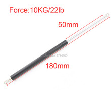 High Quality 50mm Stroke 10kg 22 lb Force Lift Strut Prop Damper Auto Gas Spring in Spings M8 Hole Diameter Sliver Tone