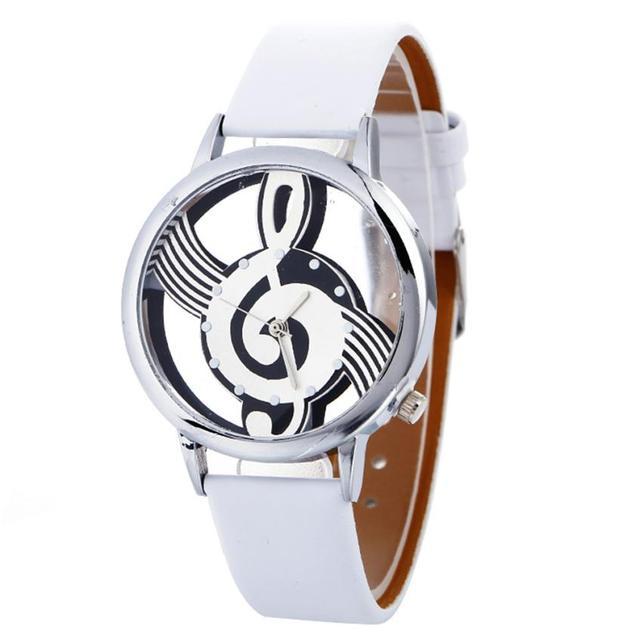 Relogio feminino Women Watches Luxury Musical Note Painting Girl Quartz Watch Casual Leather Ladies Dress Watches Women Clock #D