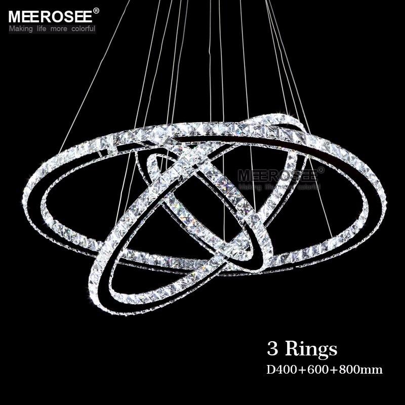 Современная люстра горячая распродажа кольцо с бриллиантом из светодиодов хрустальная люстра подвеска лампа кругов 100% гарантия положение ...