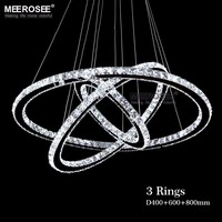 Hot Sale Diamond Ring LED Crystal Chandelier Light Modern Pendant Lamp 3 Circles 100 Guarantee Different