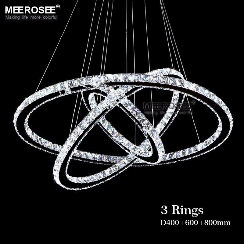 Hot Sale Diamond Ring LED Crystal Chandelier Light Modern Pendant Lamp 3 Circles 100 Guarantee Different