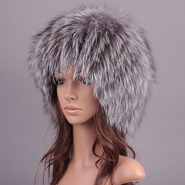8234b7dc19f Women Fur Hats Winter For Men Luxury Real Raccoon Fur Genuine Fox Fur Warm  Caps Female