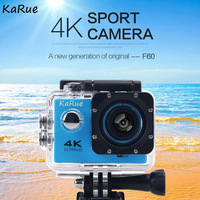KaRue F60/F60R Action Camera WiFi Ultra HD 4K Underwater 30M Outdoor Sports Camera 2.0 LCD 1080p 60fps Camera DHL 10PCS