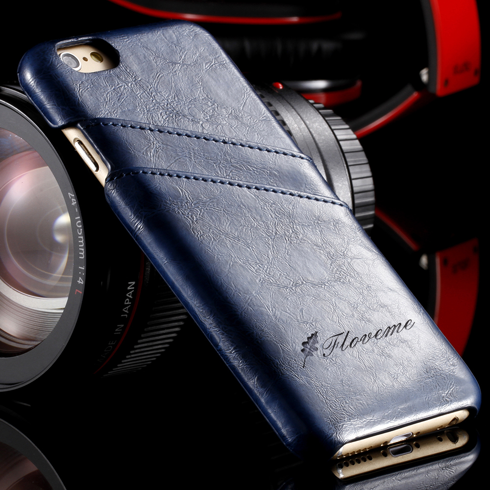 FLOVEME Luxury Leather Case Cover For iPhone 7 7 Plus 6 6s Plus ...