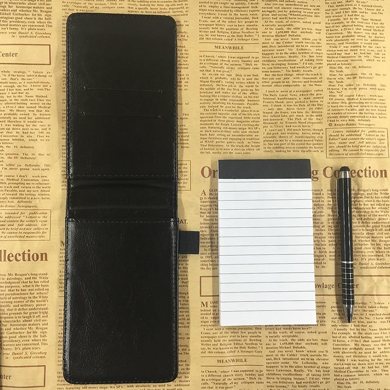 RuiZe Multifunctionele kleine notebook A7 planner lederen zak - Notitieblokken en schrijfblokken bedrukken - Foto 6
