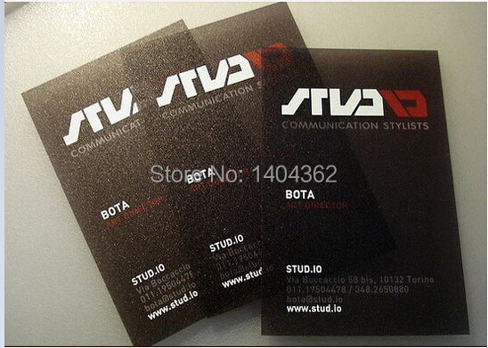 Frosted Pvc Black Business Card