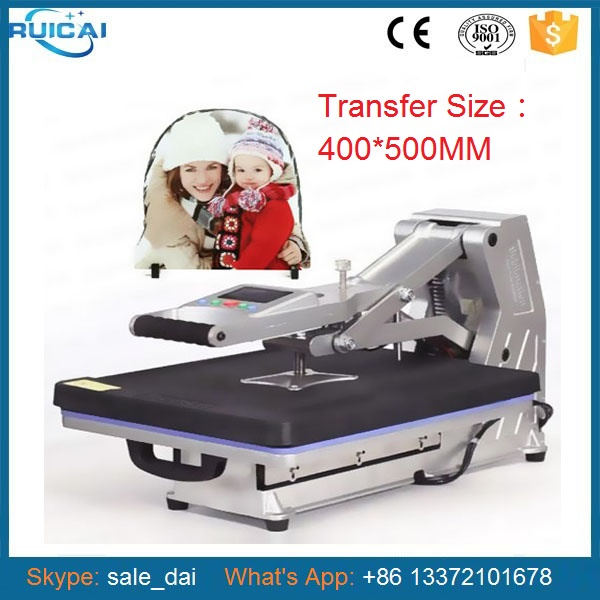 New design panel heat transfer machine sublimation flatbed for Computerized t shirt printing machine