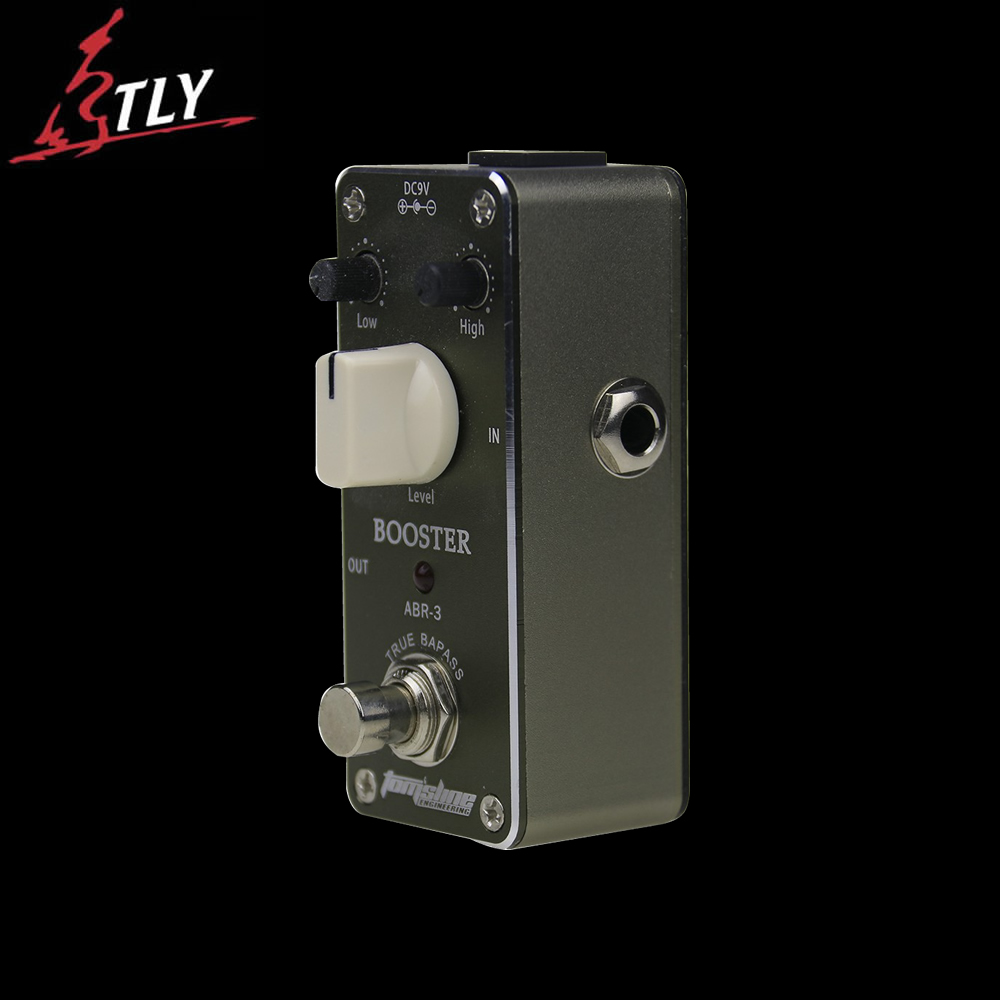 AROMA ABR-3 True Bypass Mini Booster Electric Guitar Effect Pedal Aluminum Alloy Housing aroma adl 1 aluminum alloy housing true bypass delay electric guitar effect pedal for guitarists hot guitar accessories