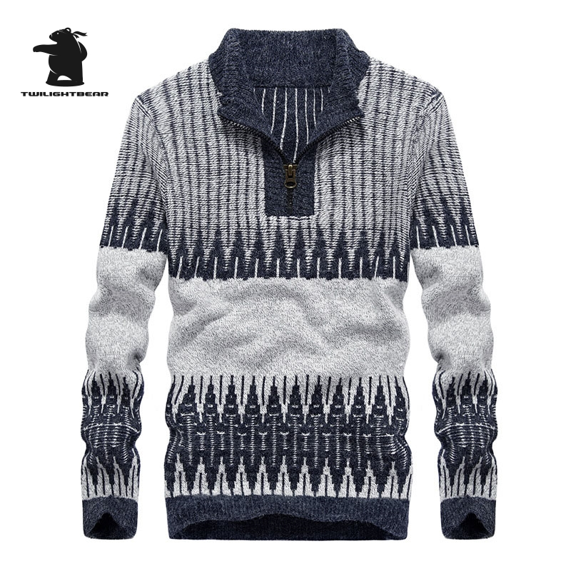 Brand New Mens Sweater Winter Fashion High Quality Plus Size Casual Sweater Men Warm Masculino Pullovers M~3XL BF1740
